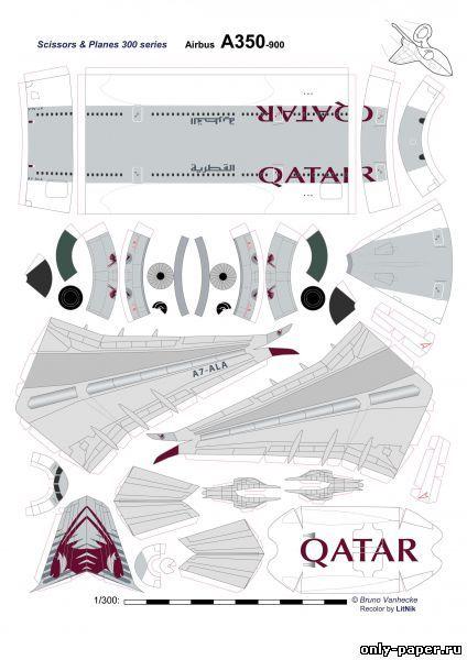 QATAR A350 900 PAPER MODEL TEMPLATE