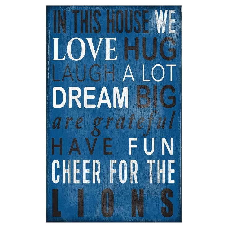 NFL Detroit Lions In This House Sign