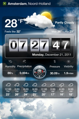 Weather Live - Beautiful weather app! The background changes according to the weather: it makes you actually FEEL the weather outside without actually going out.  Price: $0.99