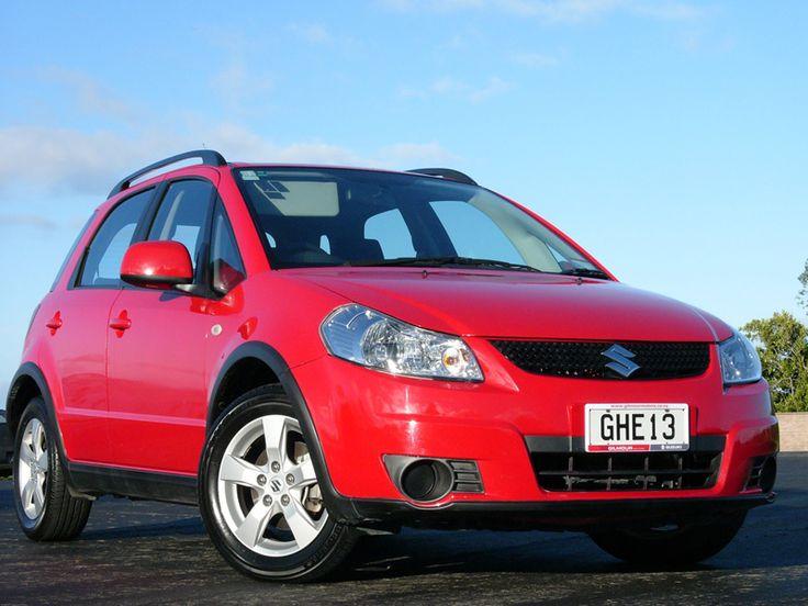 Red Suzuki SX4 www.gilmourmotors.co.nz/used-cars
