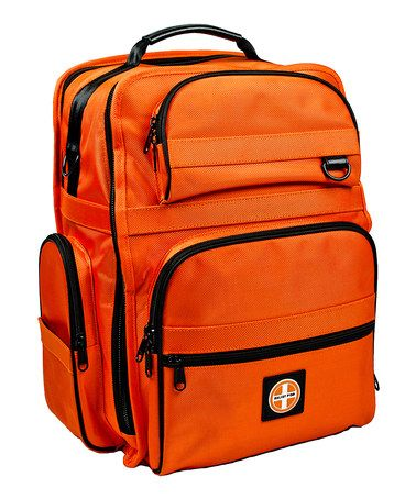 Love this Orange Emergency Backpack by Relief Pod on #zulily! #zulilyfinds. $299.99. Reg $599.  This looks like the best pre-made emergency kit I've seen.   Can't afford it right now, but I may save up for one.