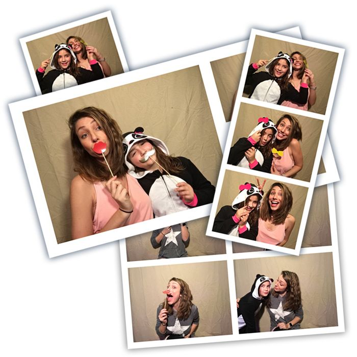 PG Booth, the best diy ipad photo booth app for parties and weddings, photo strip examples