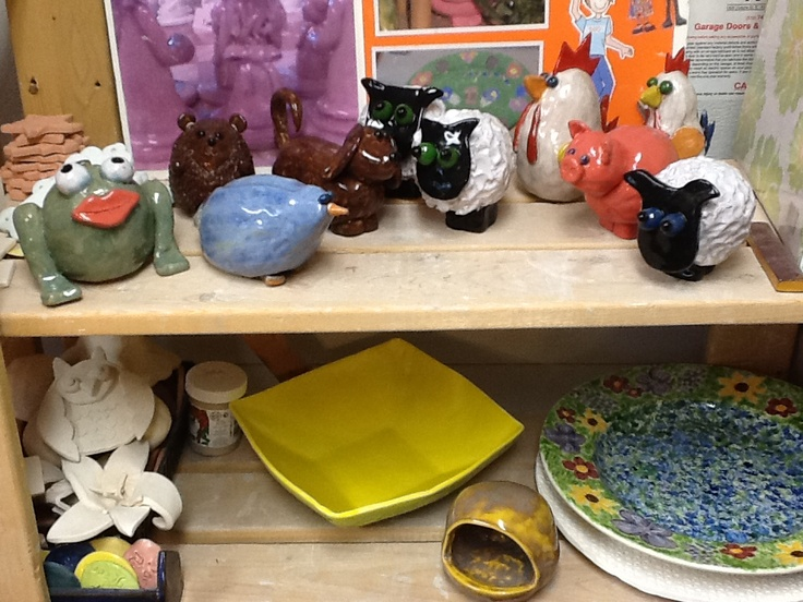 The top shelf are headed to Stratford Gallery Gift Shop.
