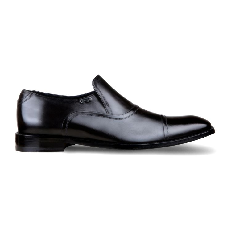 Black leather loafers for men from Armos
