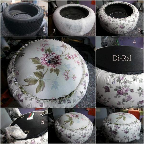Use old tires for inside and outside design find fun art projects to do at home and arts and - Diy projects using old tires ...