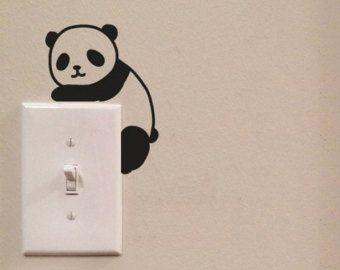 Abalanzada gato interruptor lindo vinilo Wall por imprinteddecals