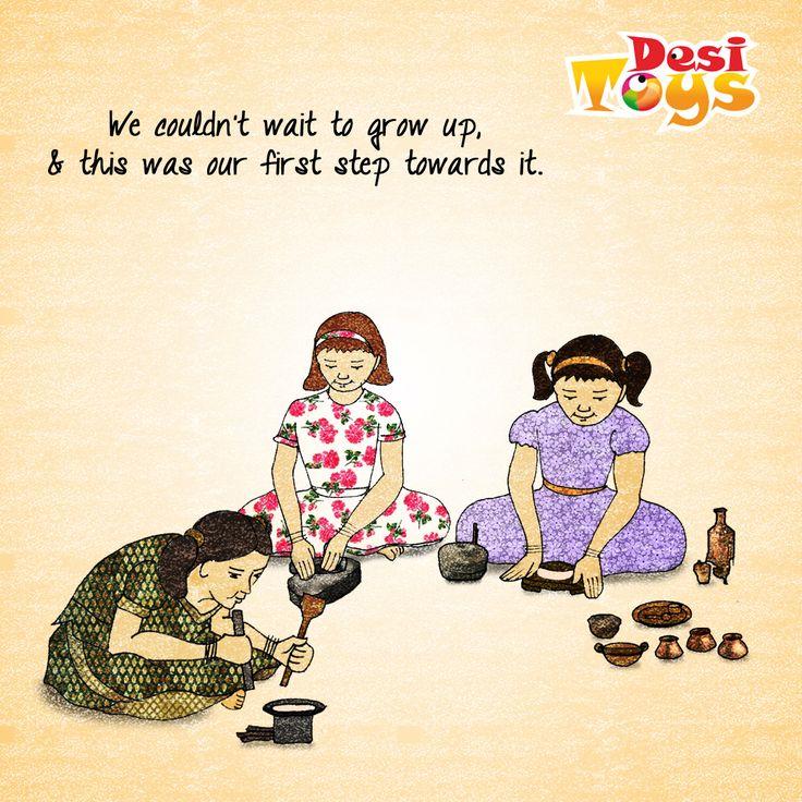 It was like having our own miniature world! :') grin emoticon #Childhood #Nostalgia #Khelpani