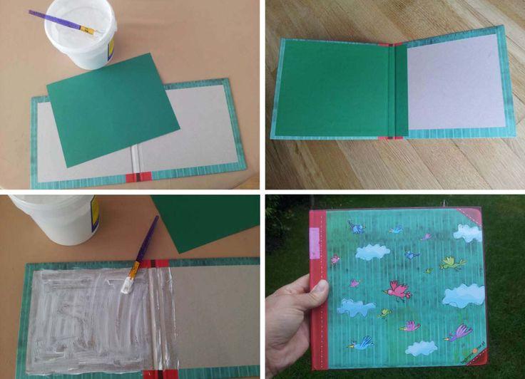 Proces wklejania książeczki