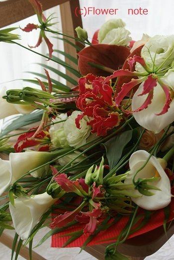 『豪華な花束のご注文』 http://ameblo.jp/flower-note/entry-10876639368.html