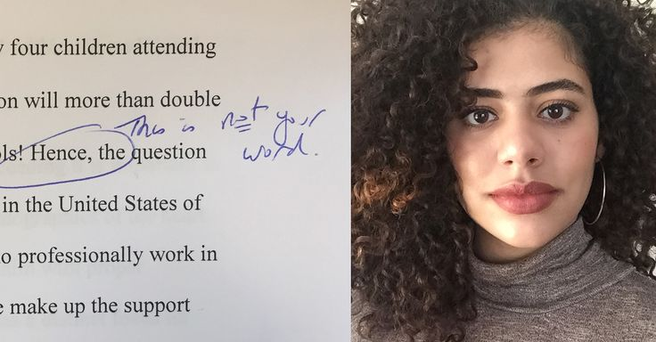 "A Professor Circled ""Hence"" On A Latina Student's Paper And Wrote ""This Is Not Your Word"" - Tamerra Griffin 
