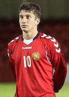 Vardan Bakalyan in the Scotland v Armenia UEFA European Under-19 Championship Qualifying Round match at New Douglas Park, Hamilton on 9.10.12.