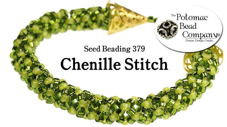 Seed Beading 379 - Chenille Stitch free tutorial from The Potomac Bead Company. Potomac bead company has hundreds of tutorials on YouTube and tens of thousands of products (gemstones, crystals, glass, seed beads, pendants, silver, findings, tools & more) in retail bead stores and on TheBeadCo.com!