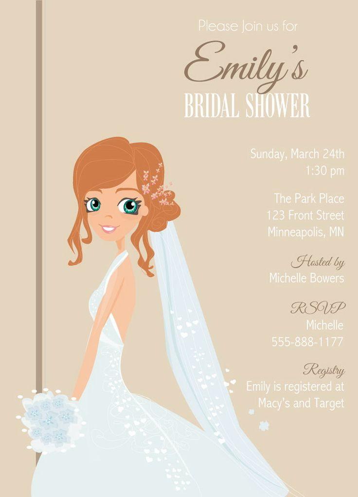 Blushing Bride Bridal Shower Invitations 85 best