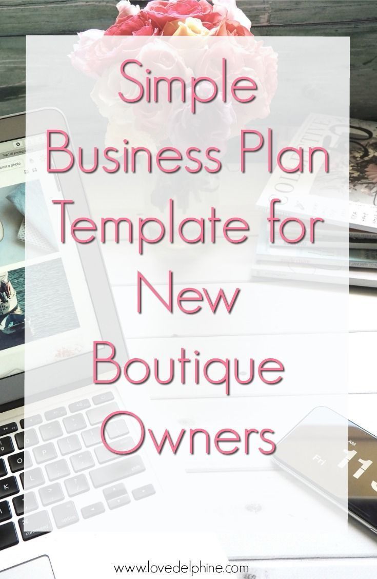 Simple business plan template for boutique owners