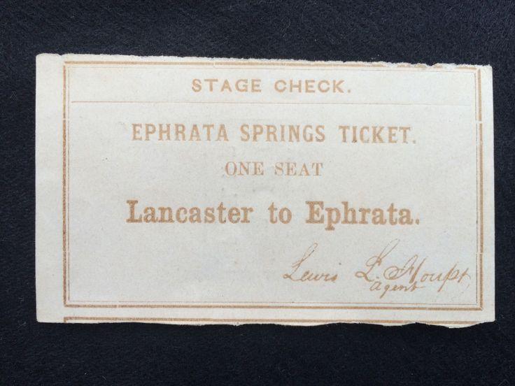 Stage Coach Ticket Dated June 17 1861 | eBay