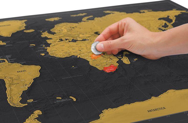 Regalador.com - Mapamundi para rascar los países visitados edición Deluxe