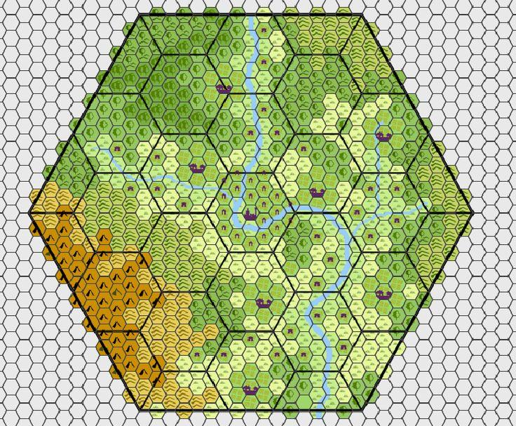 10 best hexagon tile map images on Pinterest
