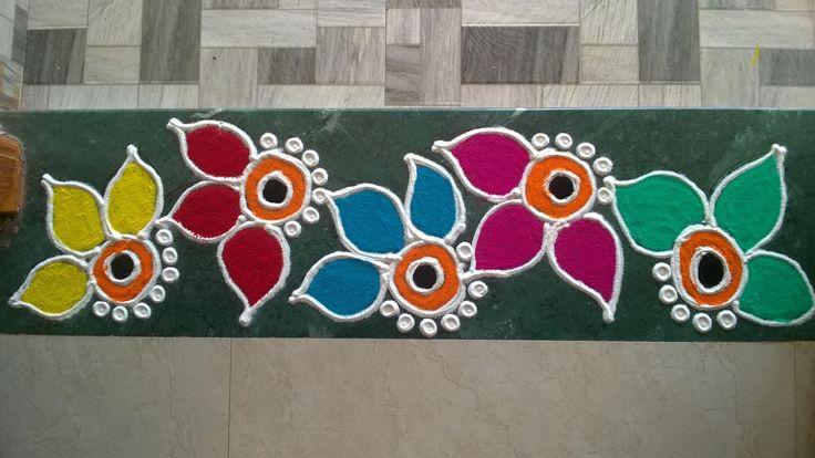 Colorful Border Rangoli Design(NEW)