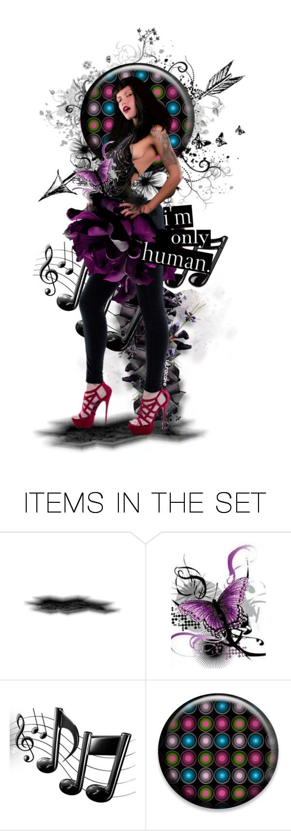 """""""I'm Only Human"""" by ultracake ❤ liked on Polyvore featuring art, music, dolls and ultracake"""