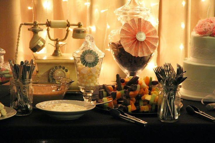 Candy Bar, Fairy Lights, Birthday, Dessert Night