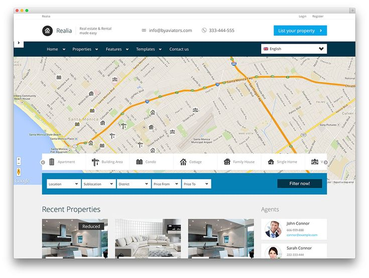 Best  More Of The Best Real Estate Wordpress Themes Images On
