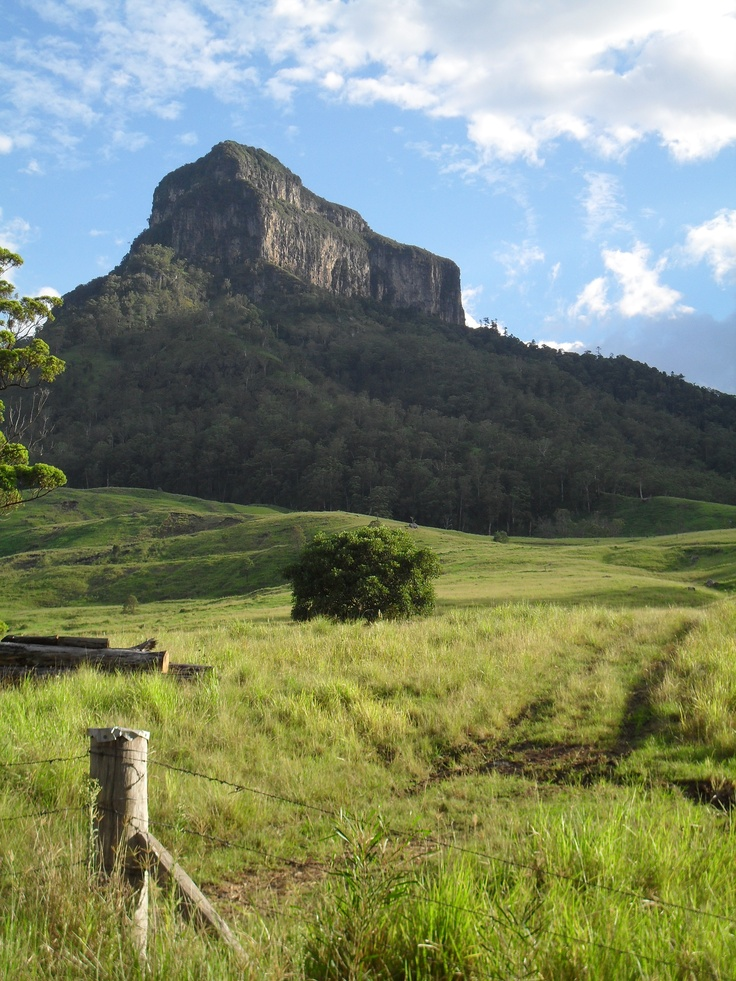 Mt Lindesay, on the Queensland and New South Wales Border