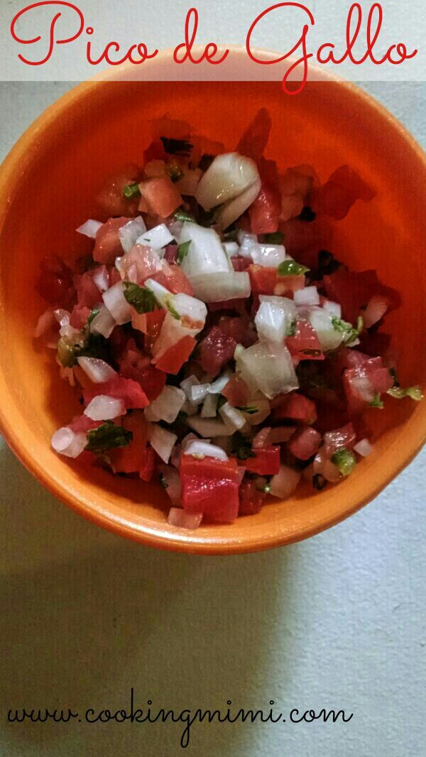 Pico de gallo is a fresh salsa made with Roma tomatoes, onion, and jalapeños. Serve with tortilla chips or your favorite Mexican recipes.