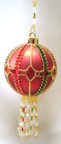 beaded  ornament cover pattern | Y109 Bead PATTERN ONLY Beaded Balmoral Christmas by BeadedBundles