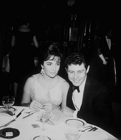 """""""Suddenly Last Summer"""" premiere and party at Chasen's Elizabeth Taylor, Eddie Fisher"""