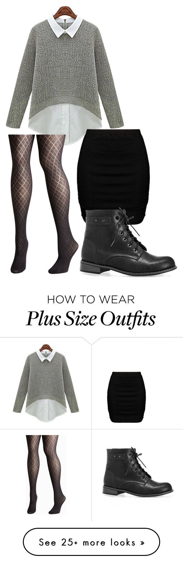 """Sem título #233"" by brunasthefanny on Polyvore featuring Avenue and Zizzi"