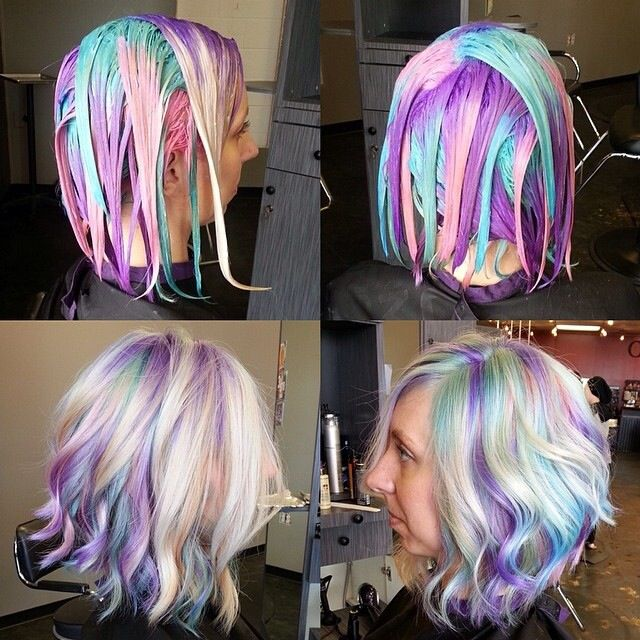 Pravana hair color, pastel