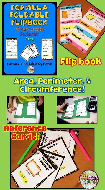 Area, Perimeter, and Circumference foldable - flip book format