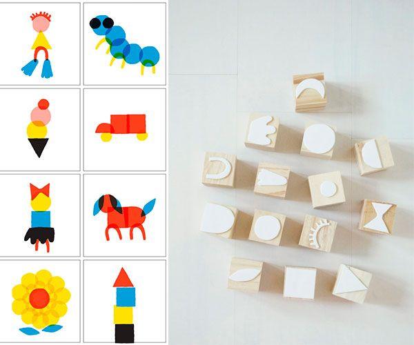 6 sellos caseros para ni os shape manualidades and stamps - Cositas para bebes manualidades ...