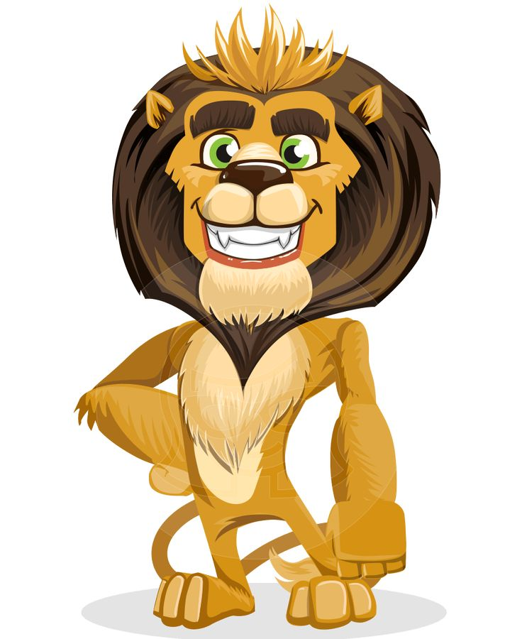 leo nardo is a friendly lion vector cartoon character. Black Bedroom Furniture Sets. Home Design Ideas