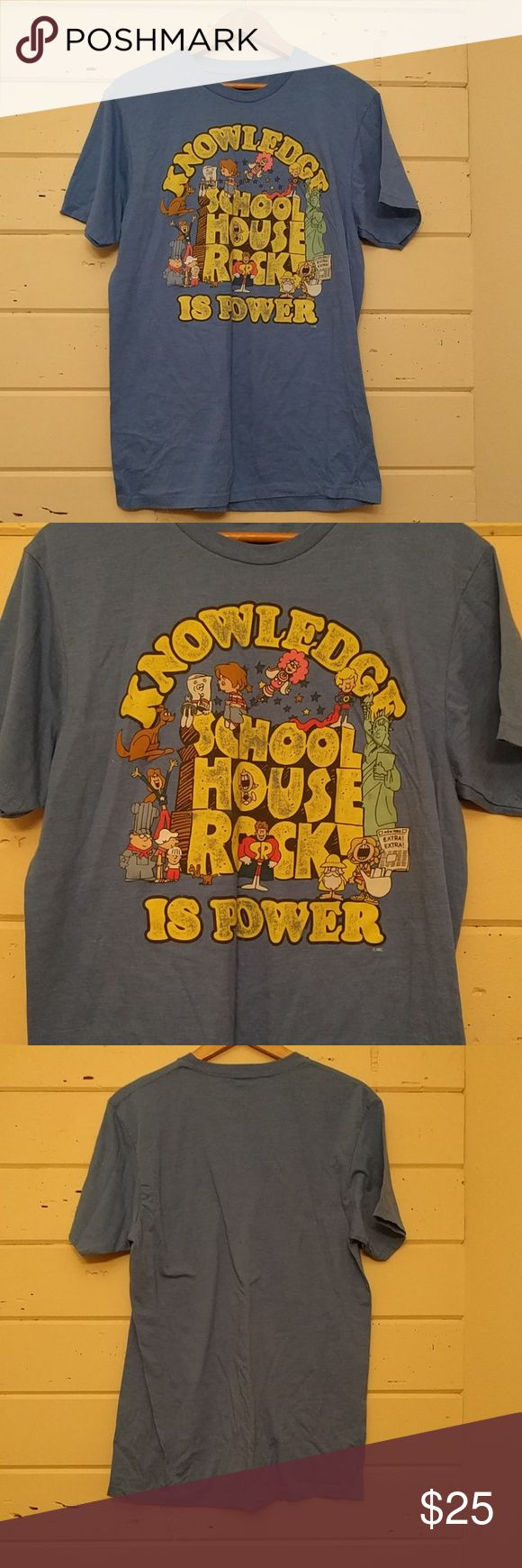Vintage soft school house rock blue tee shirt Excellent condition, soft thinner material. Knowledge is power Tops Tees - Short Sleeve