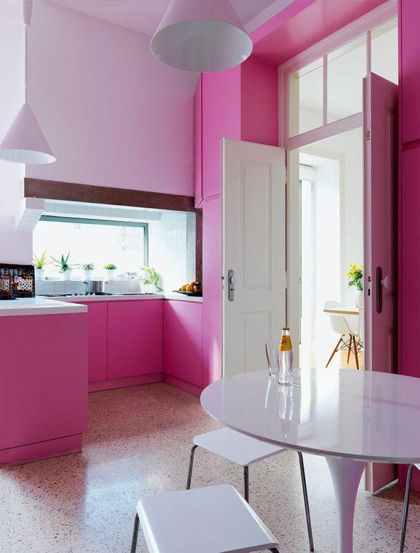 113 best red pink purple kitchens baths images on pinterest bathroom bathrooms and half on kitchen decor pink id=51800