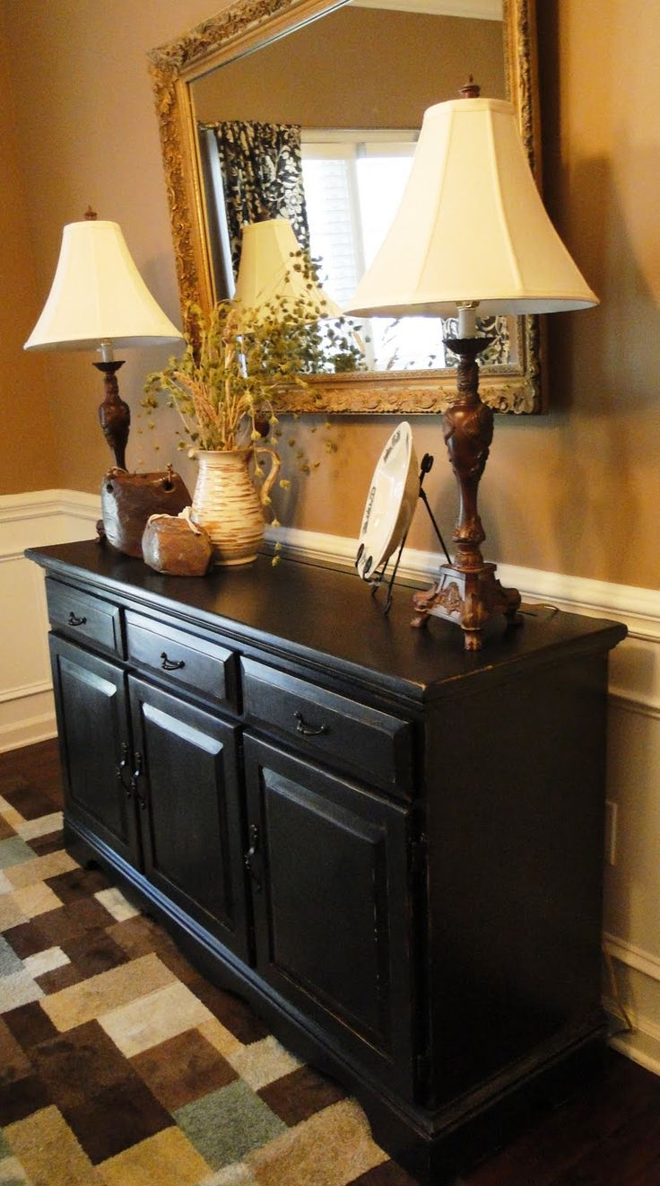 Elegant buffet table decoration pictures - Re Painted Dresser Turned Table For Hall Great Idea For In Front Of Stairs