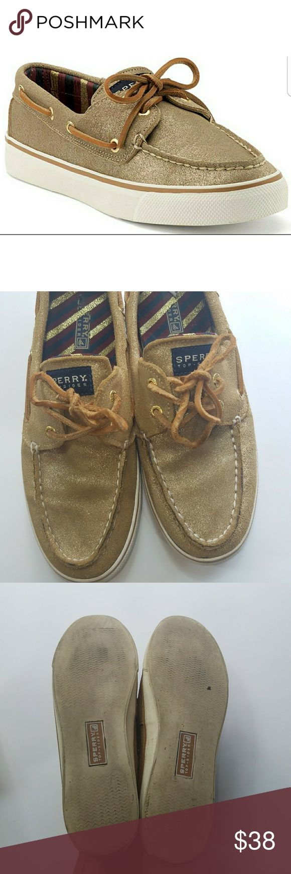"""""""ACCEPTING 30% OFF OFFERS"""" SALE [Sperry Top Sider] Bahama 2 Eye Sparkle Suede Sperry Top Sider Bahama 2 Eye Sparkle Suede  Womens size 8.5 Sperry Top-Sider Shoes Flats & Loafers"""