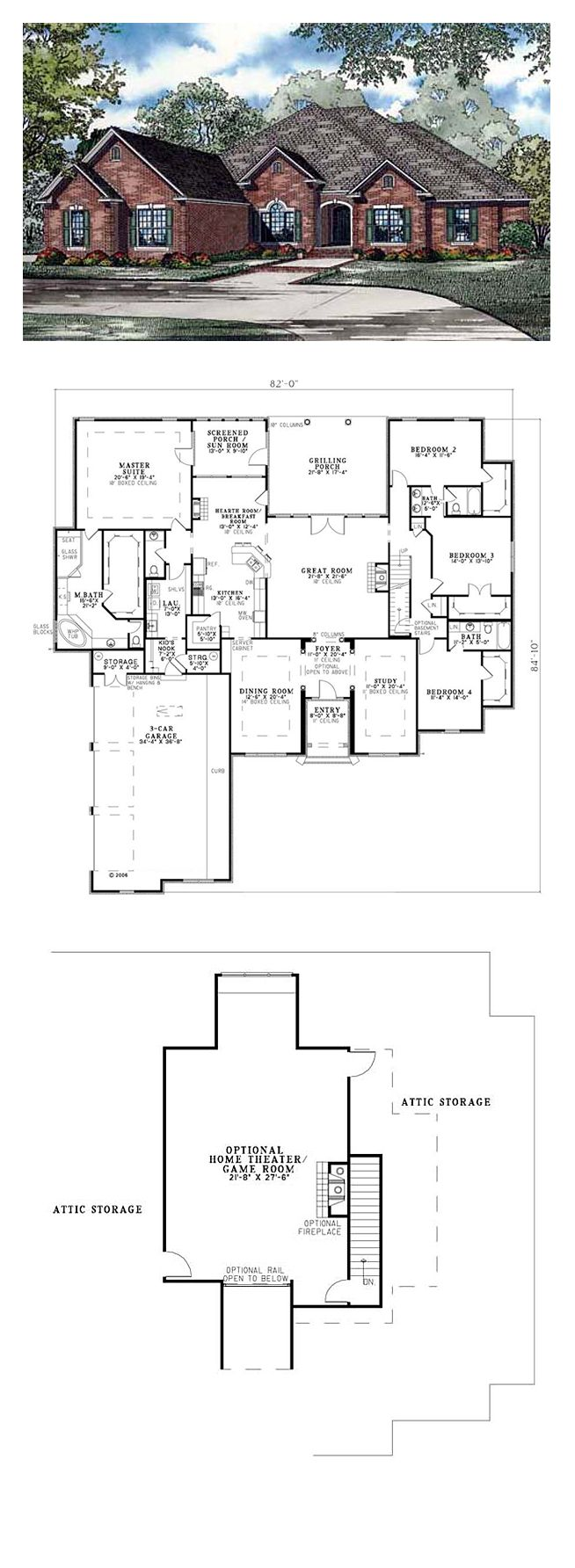 House Plan chp 38313 16 best Luxury Home