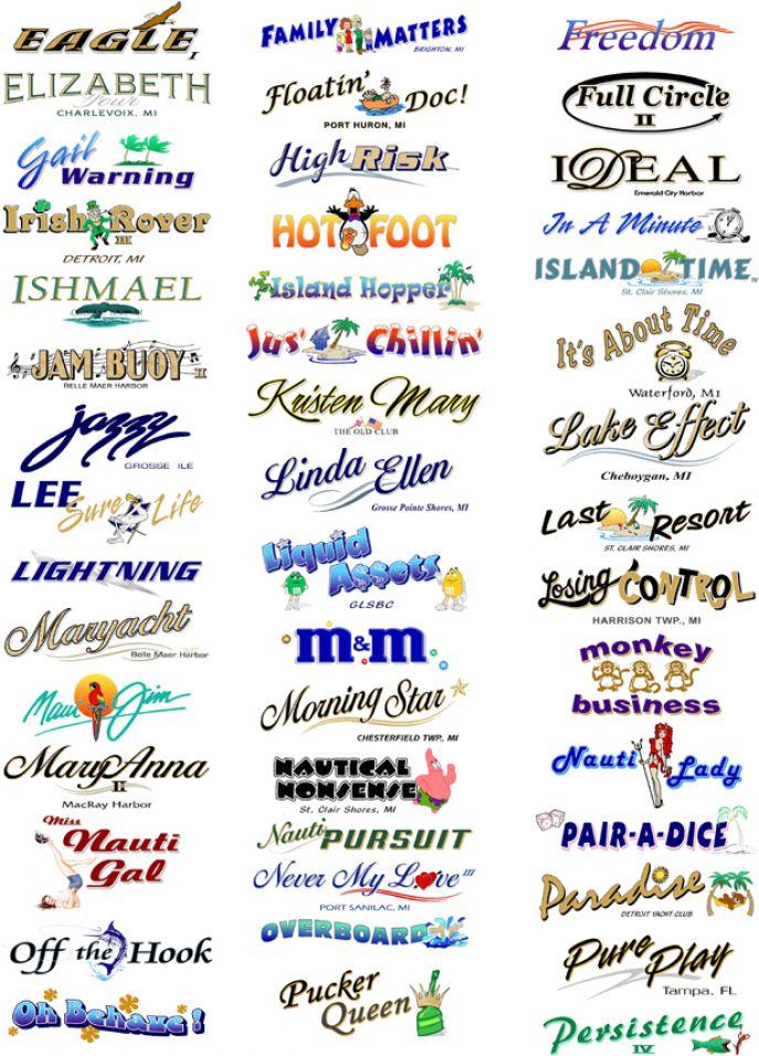 Boat Names Design Vinyl graphix