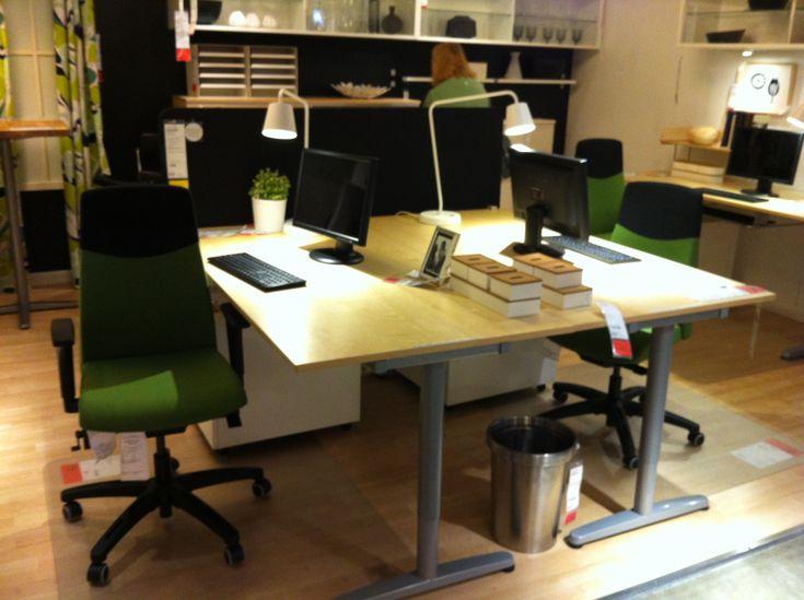 Ikea Galant Desk Back To Back Setup In 2019 Ikea Galant