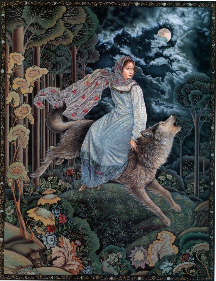 """Laurel Long ~ Illustration from """"The Magic Nesting Doll""""  Written by Jacqueline K. Ogburn"""