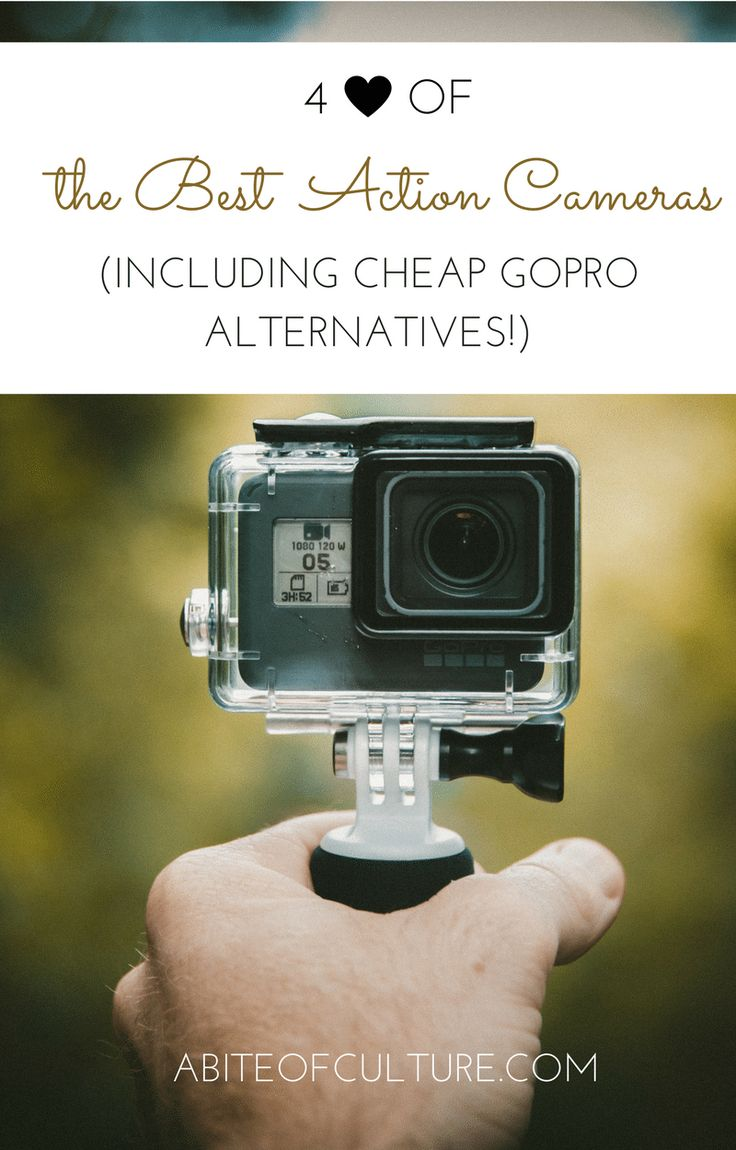 4 of the Best Action Cameras (Including Cheap GoPro Alternatives!); having a way to document our travels is something we all want to do, but which is really the best action camera out there? Whether it be for business or pleasure, it's important that we know all our options before investing in an action camera. Here are four action cameras recommended by travel bloggers themselves!