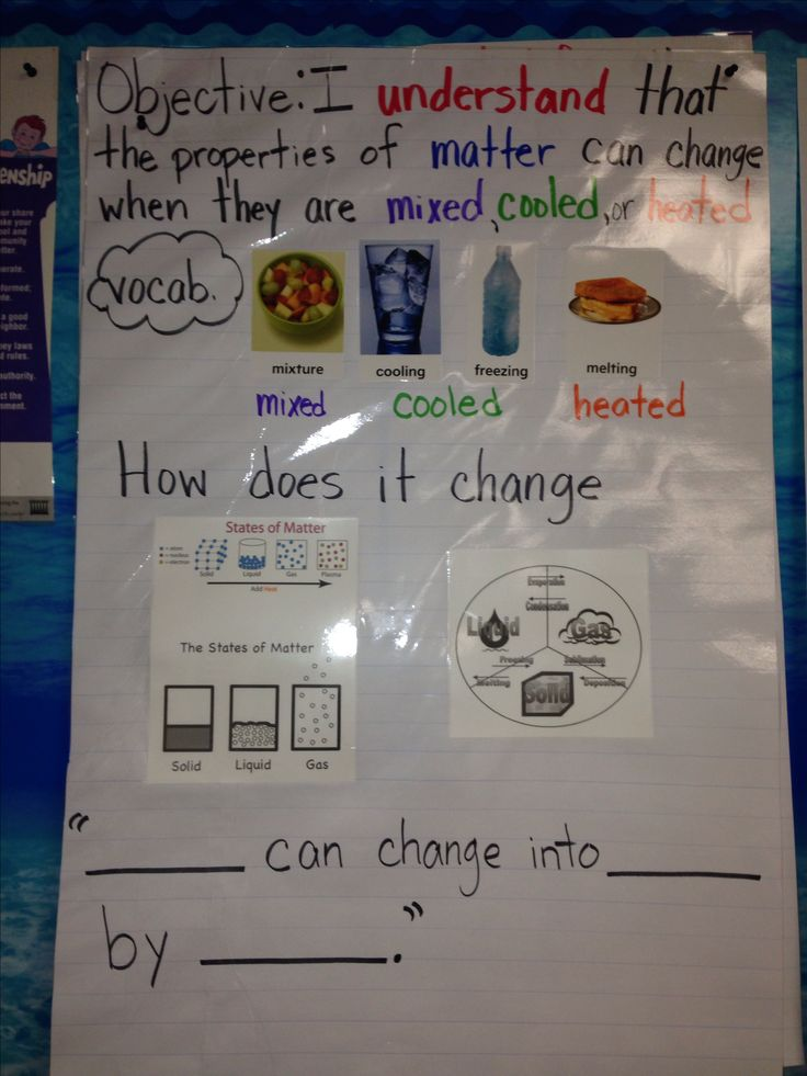First grade science changing matter posters Pinterest