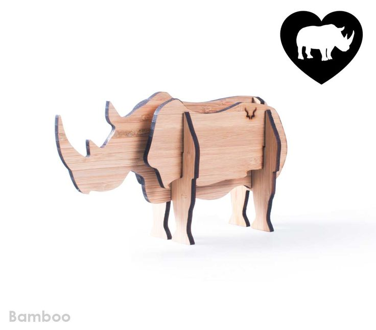 Freestanding bamboo rhino.  We are donating 10% of proceeds to a young boys inspiring cause to save baby orphan rhino Osita, Raise the baby rhino with Hunter.