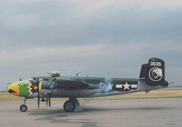 "Lawton, Oklahoma, B-25J Mitchell Bomber - ""Iron Laiden Maiden"" 1981 by duggar11, via Flickr"