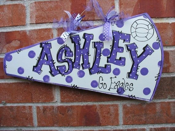 PERSONALIZED CHEER MEGAPHONE. $18.00, via Etsy.
