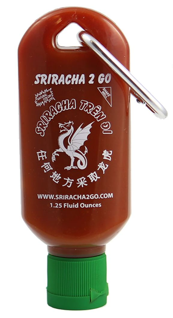 Sriracha2Go: A Miniature Refillable Sriracha Bottle!  With S2G being TSA friendly and BPA free, you can take sriracha with you everywhere and never have another sriracha-less meal again!  Spice up your life at www.sriracha2go.com