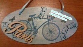 Tábla - Paris bicikli