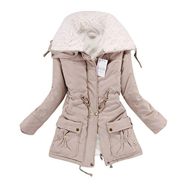 Shipping address Women Lady Thicken Warm Winter Coat Hood Parka Overcoat Long Outwear Jacket Khaki Large - Brought to you by Avarsha.com